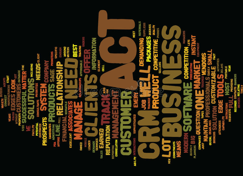 Are You Up For The Act In Your Crm System Word Cloud Concept stock illustration