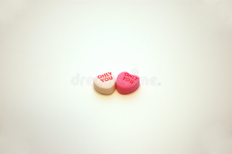 Only You Valentine's Day Conversation Hearts stock photo