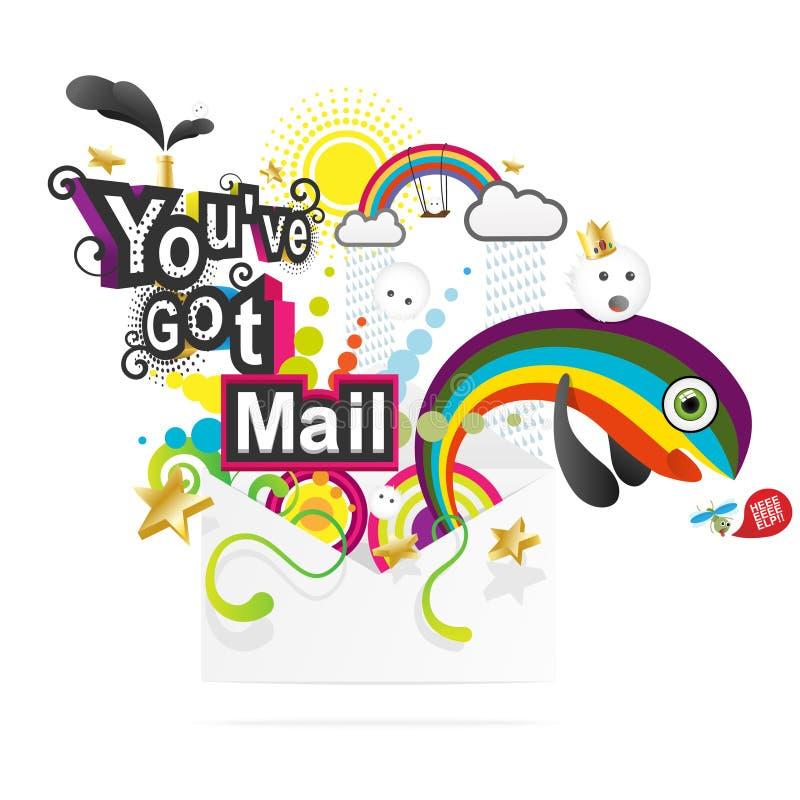 You've começ o correio ilustração royalty free