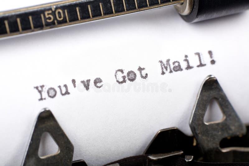 You've começ o correio foto de stock