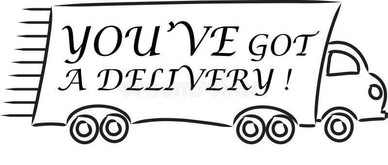 You've começ uma entrega ilustração stock