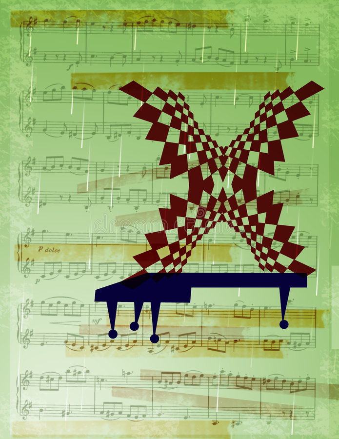 You've Got Jazz. Computer generated design concept. Melodic symbolism. Entertainment, theater and music industry vector illustration