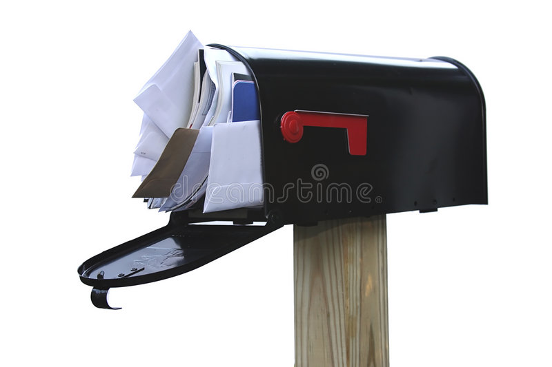 You've Got Too Much Mail stock photo