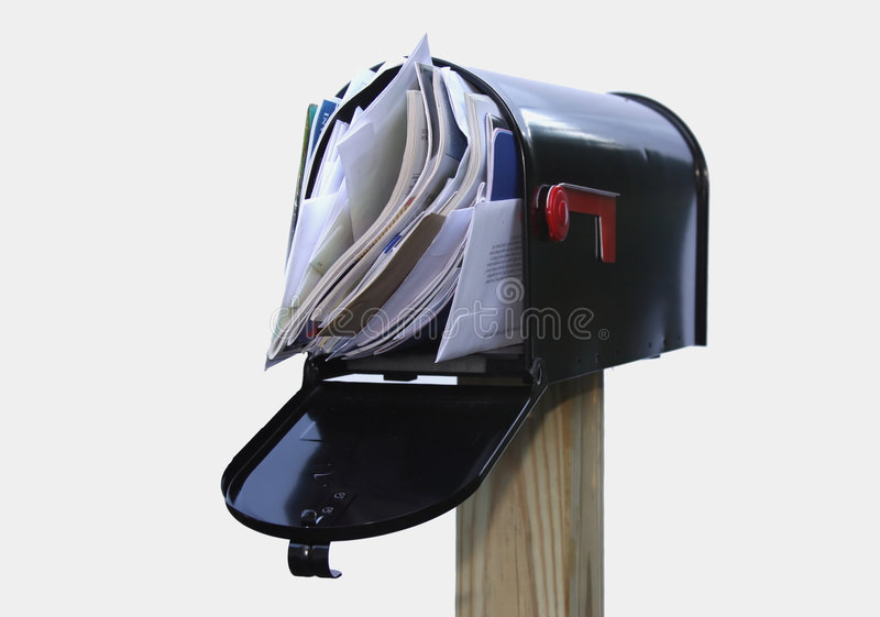 You've Got Too Much Mail royalty free stock photography