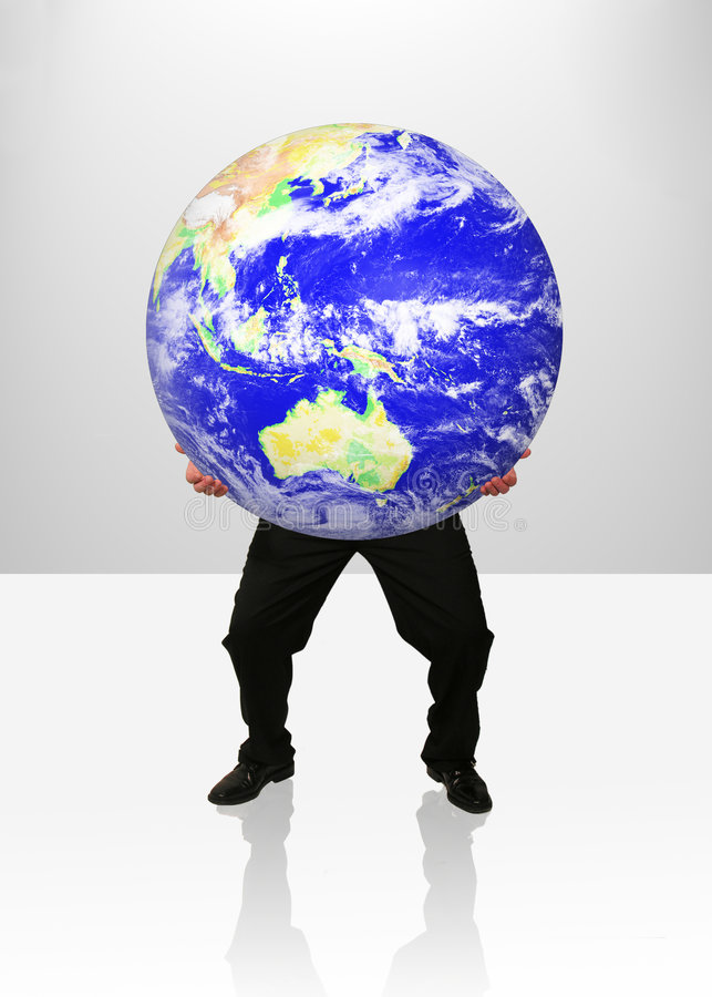 You've Got the World in Your Hands stock image