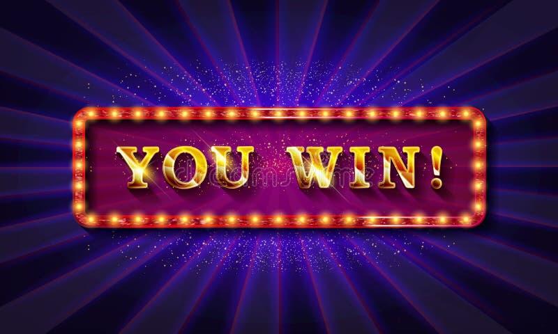 You win banner design. Vector illustration royalty free illustration