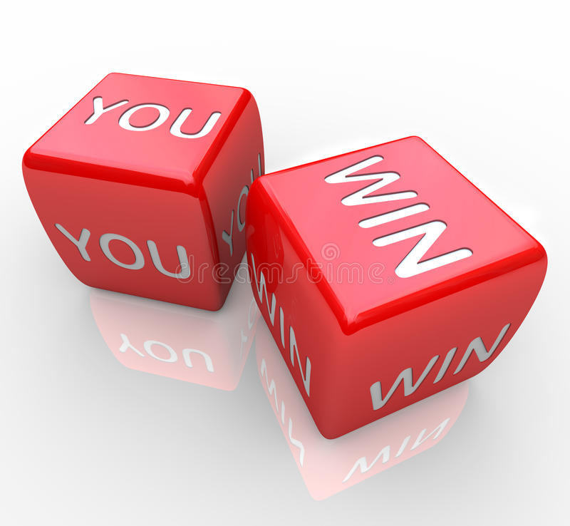 Download You Win - Words On Red Dice Stock Illustration - Image: 15982746