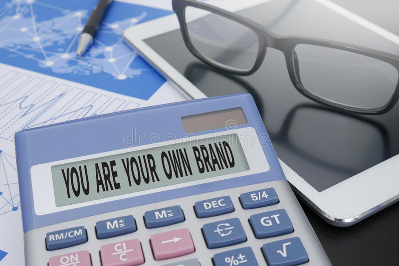 YOU ARE YOUR OWN BRAND royalty free stock images