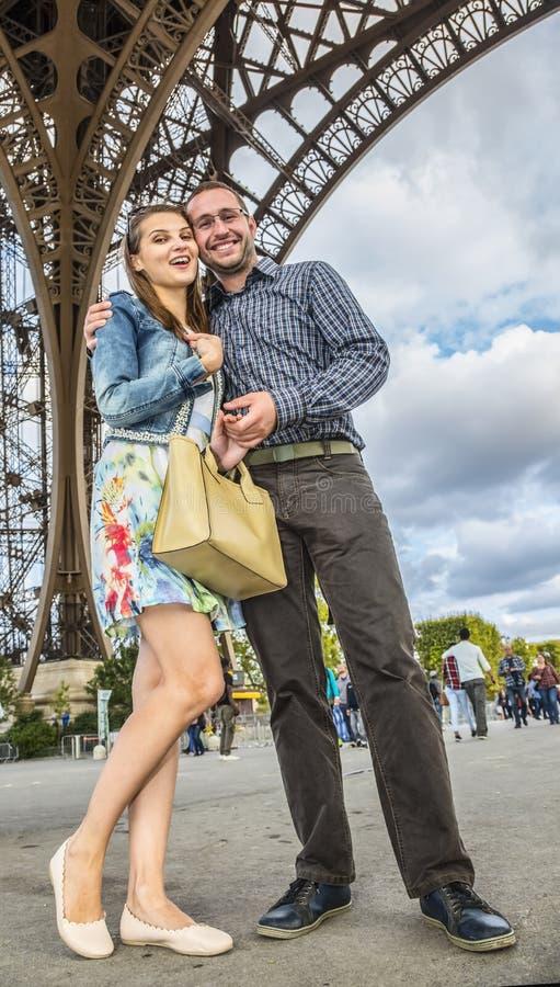 Youg Couple in Paris stock image