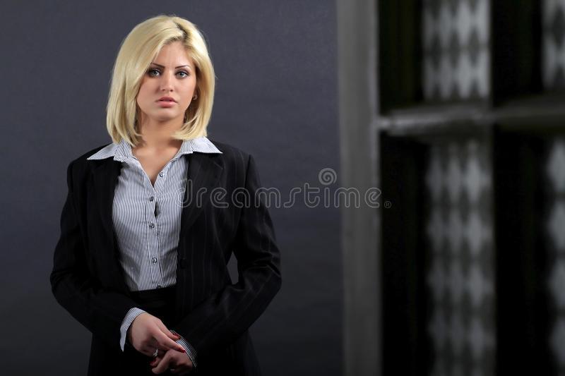 Youg executive woman royalty free stock photography