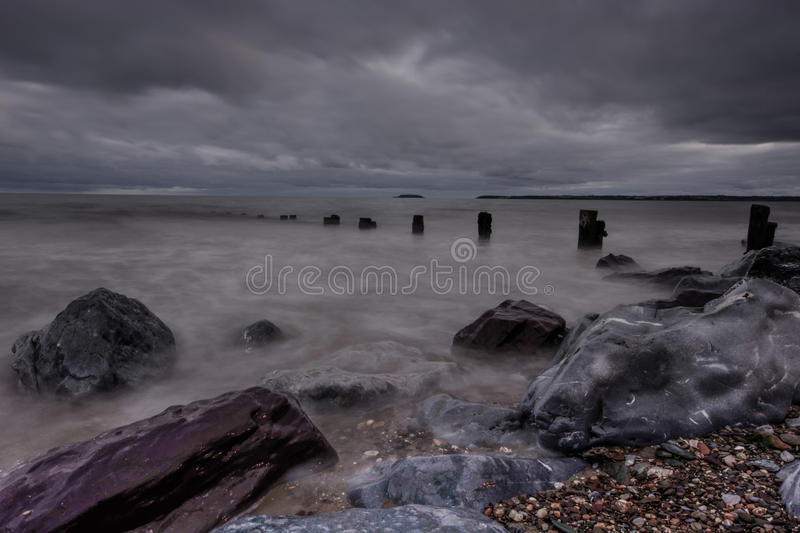 Youghal-Buhnen HDR stockfoto