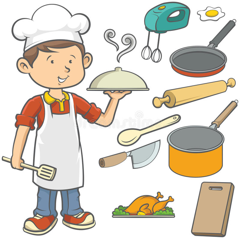 Youn Chef illustration stock