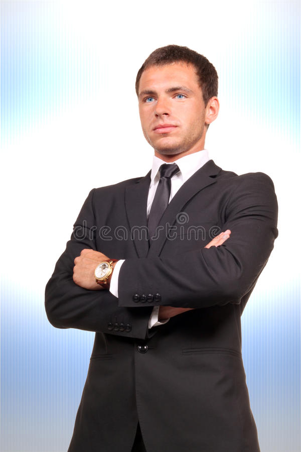 Yound handsome businessman stock images