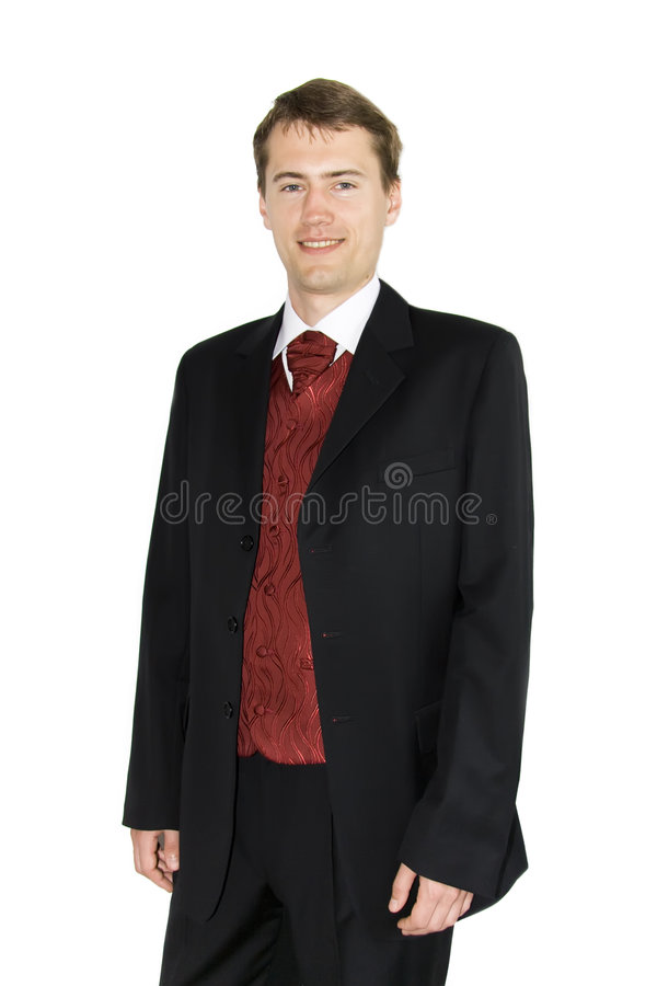 Free Yound Smiling Businessman Over White Royalty Free Stock Photography - 6004687