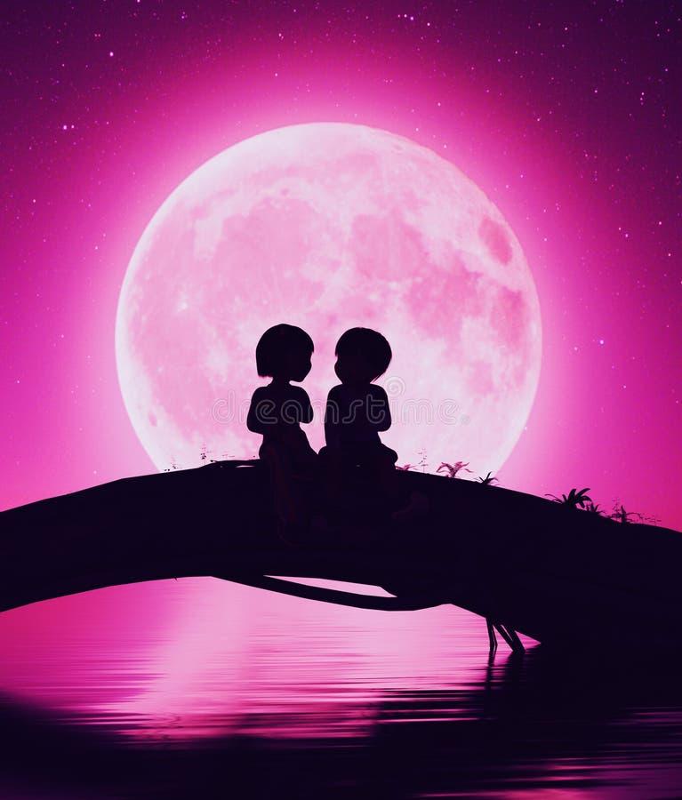 Young любовь иллюстрация штока
