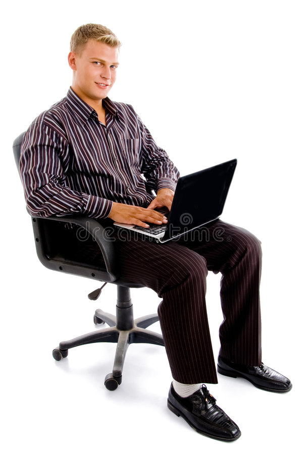 Download Young Accountant Checking His Official Work Stock Image - Image: 8474969