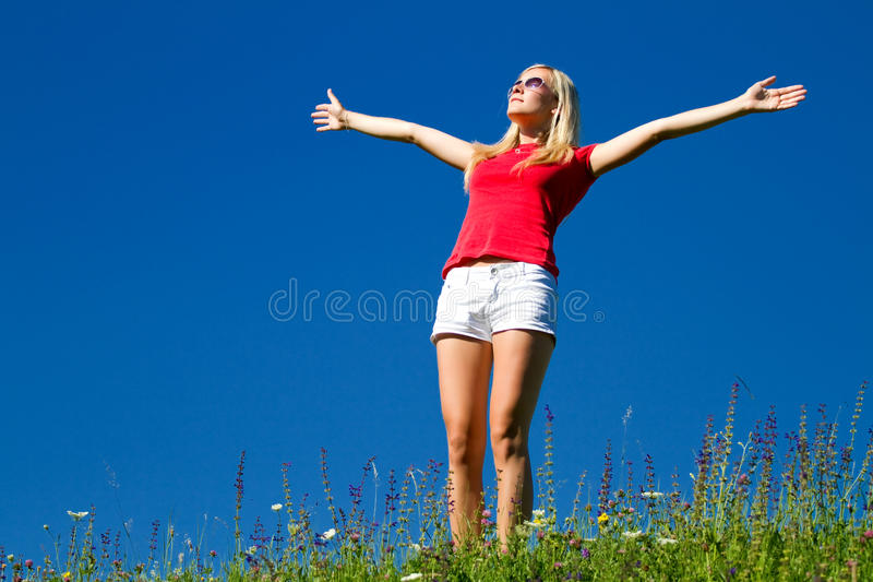 Young active girl royalty free stock photo