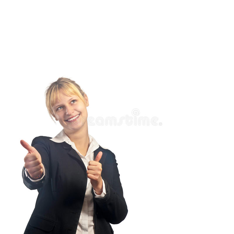 Download Young Active Smiling Girl With Thumbs Up Stock Image - Image: 27670231