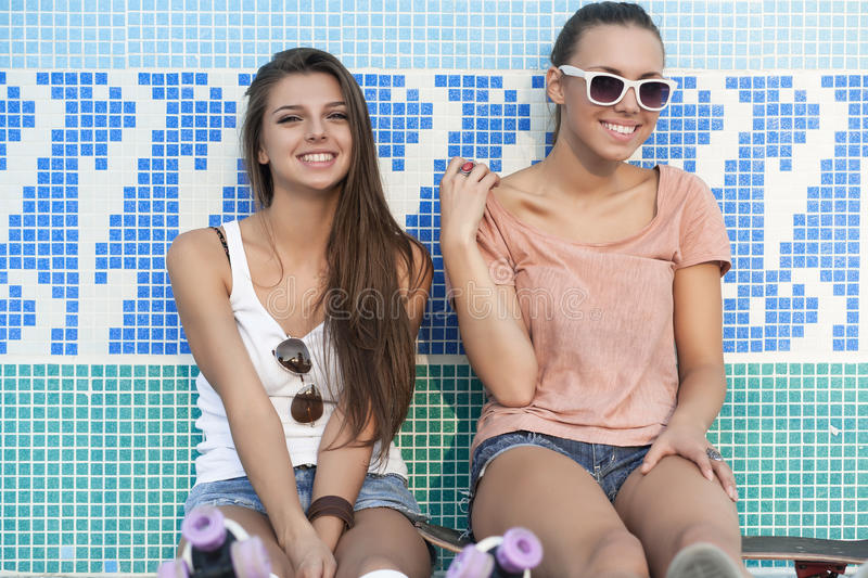 Download Young active women stock photo. Image of roller, friendship - 29288346