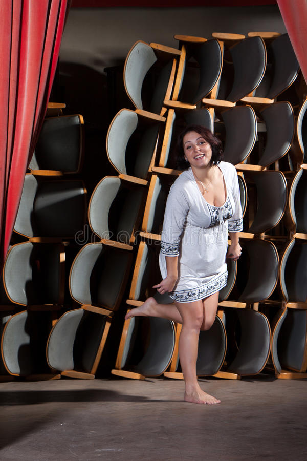 Download The Young Actress On Stage Stock Photography - Image: 34122552