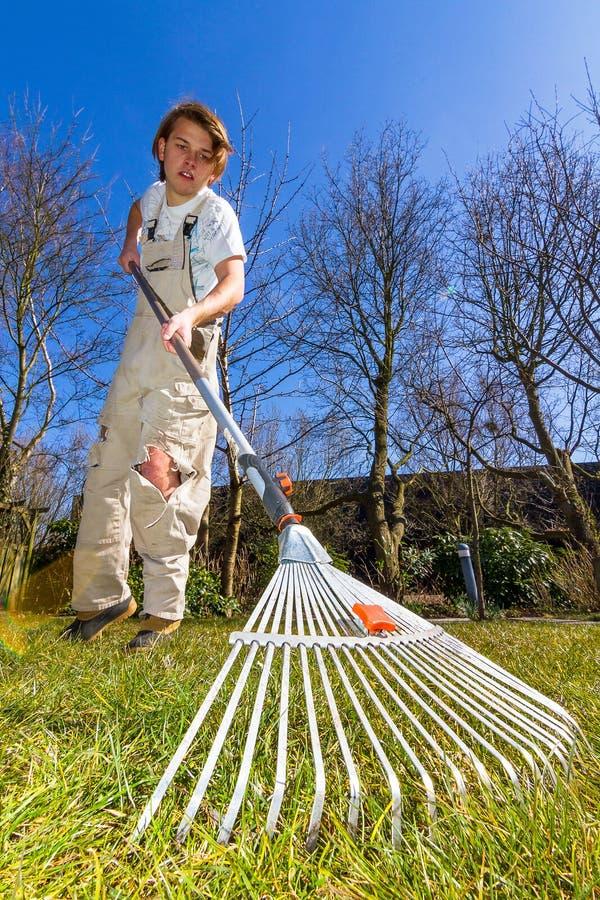 Spring raking royalty free stock photos