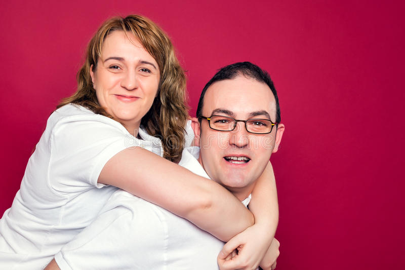 Young Adult Couple Smiling stock images
