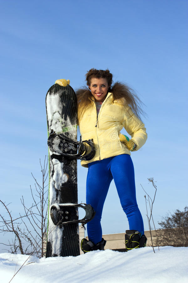 Download Young Adult Female Snowboarder Stock Photo - Image: 18576016