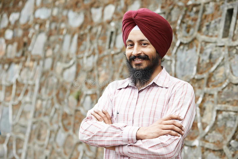 Young adult indian sikh man stock images