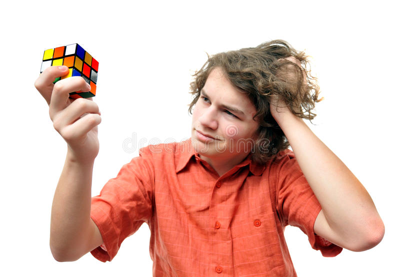 Young adult problem solving royalty free stock photo