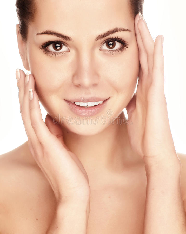 Young Adult Woman With Health Skin Of Face Stock Images
