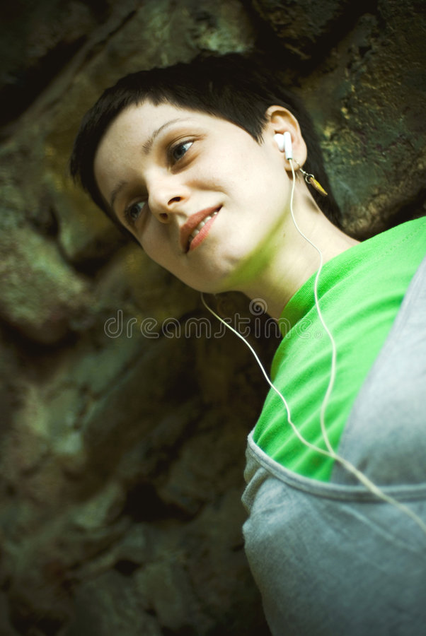 Young adult woman portrait stock photography