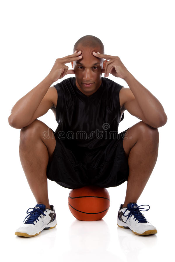Young African American basketball player royalty free stock image