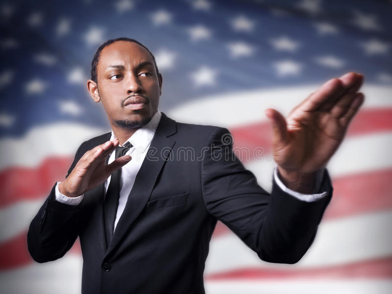 Young African American guy royalty free stock images