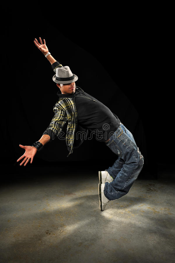 Young African American Hip Hop Dancer stock images