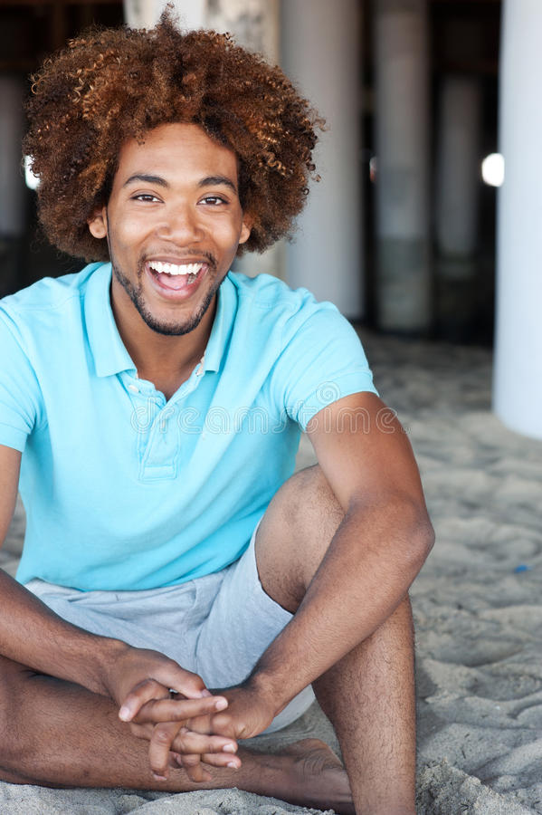Download Young African American Man At The Beach Stock Image - Image of beach, sand: 24403223