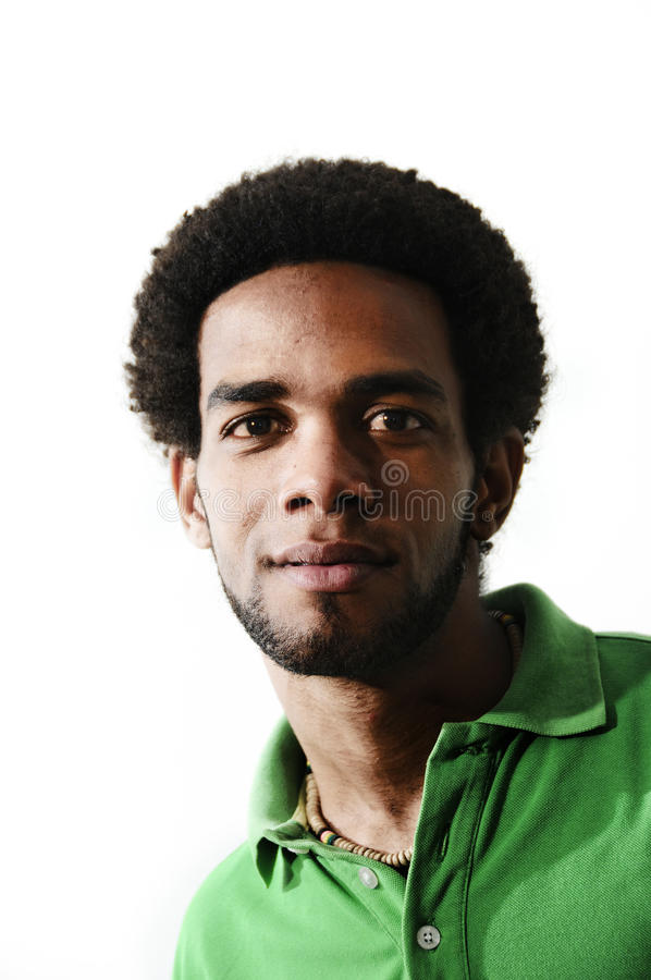 Young african american man isolated stock photography