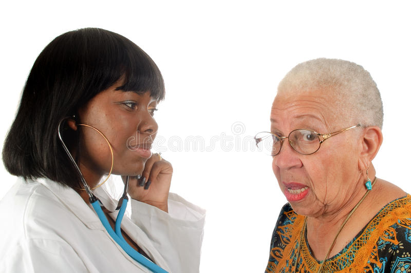 Young african american nurse or doctor royalty free stock photos