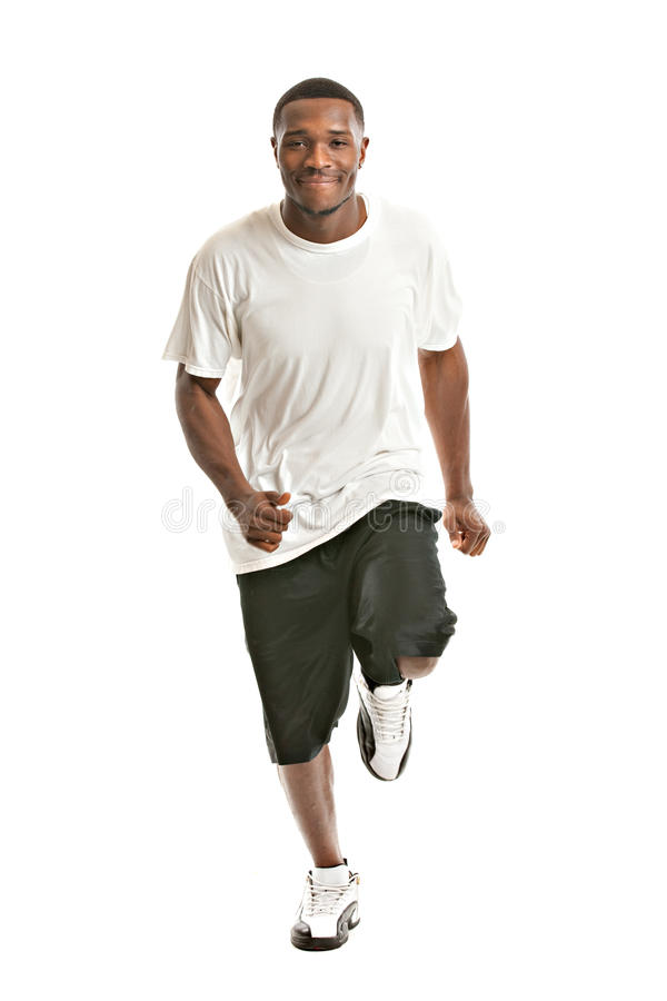 Download Young African American Runner Indoor Isolated Stock Image - Image: 23134781