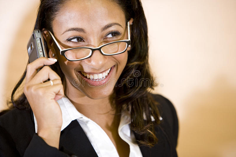 Download Young African-American Woman Talking On Phone Stock Photo - Image: 12481186