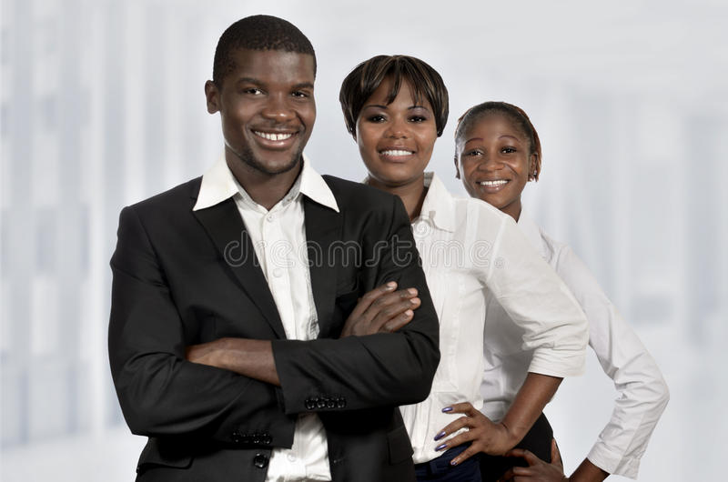 Young african business team stock image