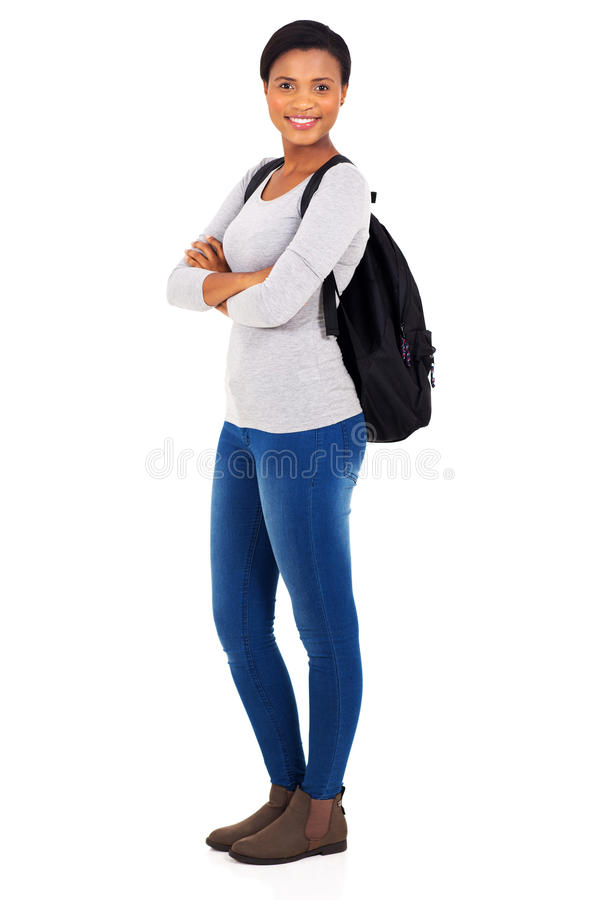 Young african college student royalty free stock photography