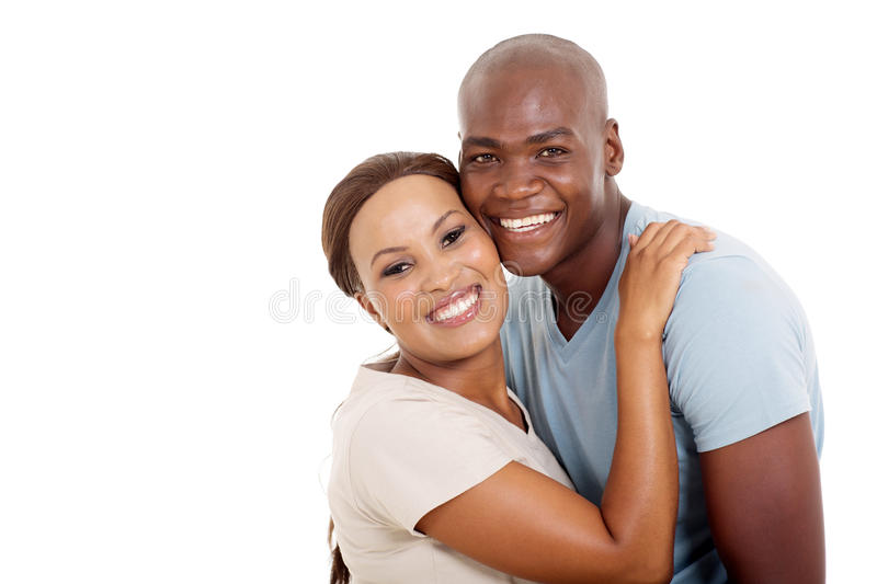 Young african couple stock photography