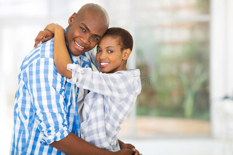 Young african couple royalty free stock photos