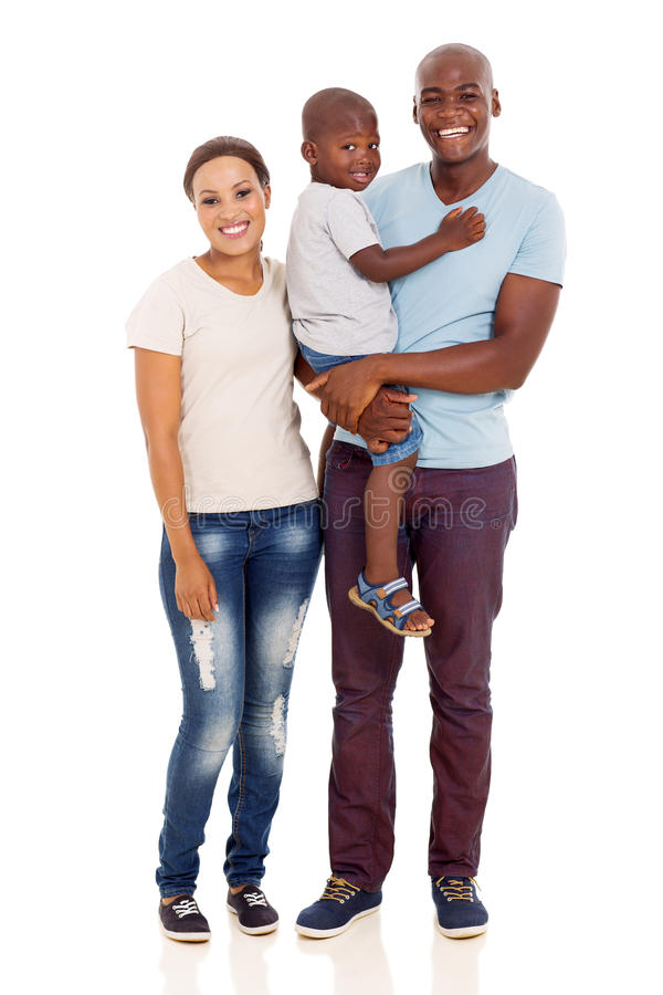 Young african family stock photography