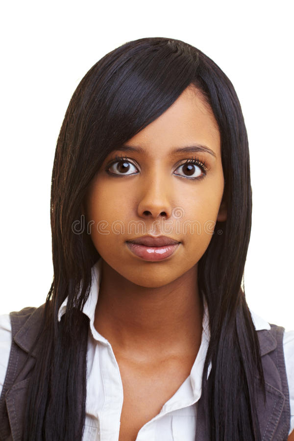 Download Young african girl stock photo. Image of person, looking - 14862134