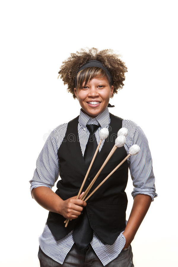 Young African Girl Musician royalty free stock photos