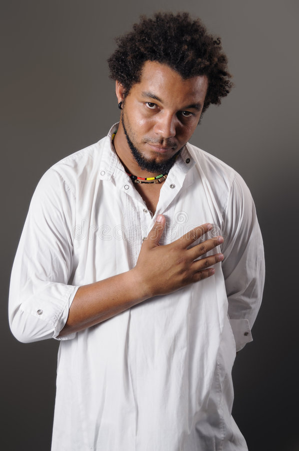 Download Young african man stock photo. Image of chest, hairstyle - 5485318