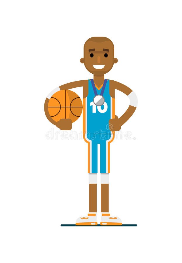 Young african man basketball player stock images