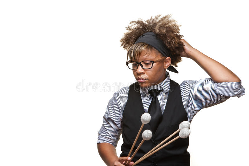 Young African Musician stock photography