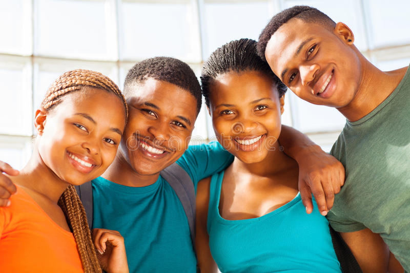 Young african students stock image